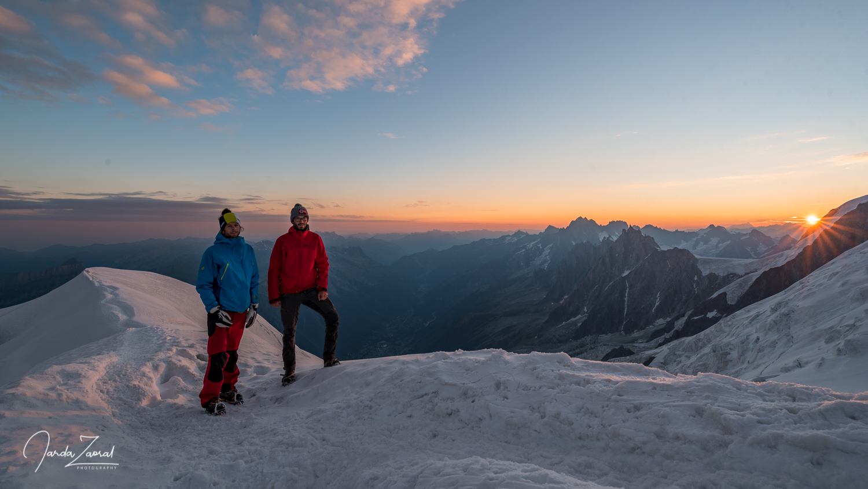 Sunrise at Gouter Hut