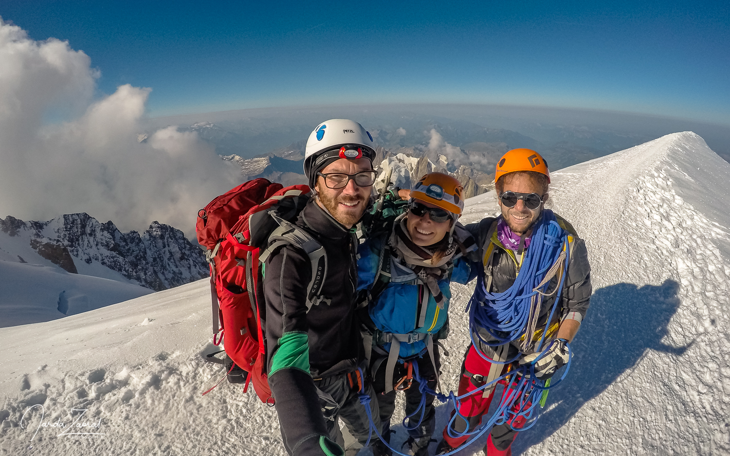On top of Mont Blanc